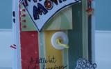 Mini Álbum My Favorite Movie – sanfonado em forma de cascata feito com saquinhos de pipoca