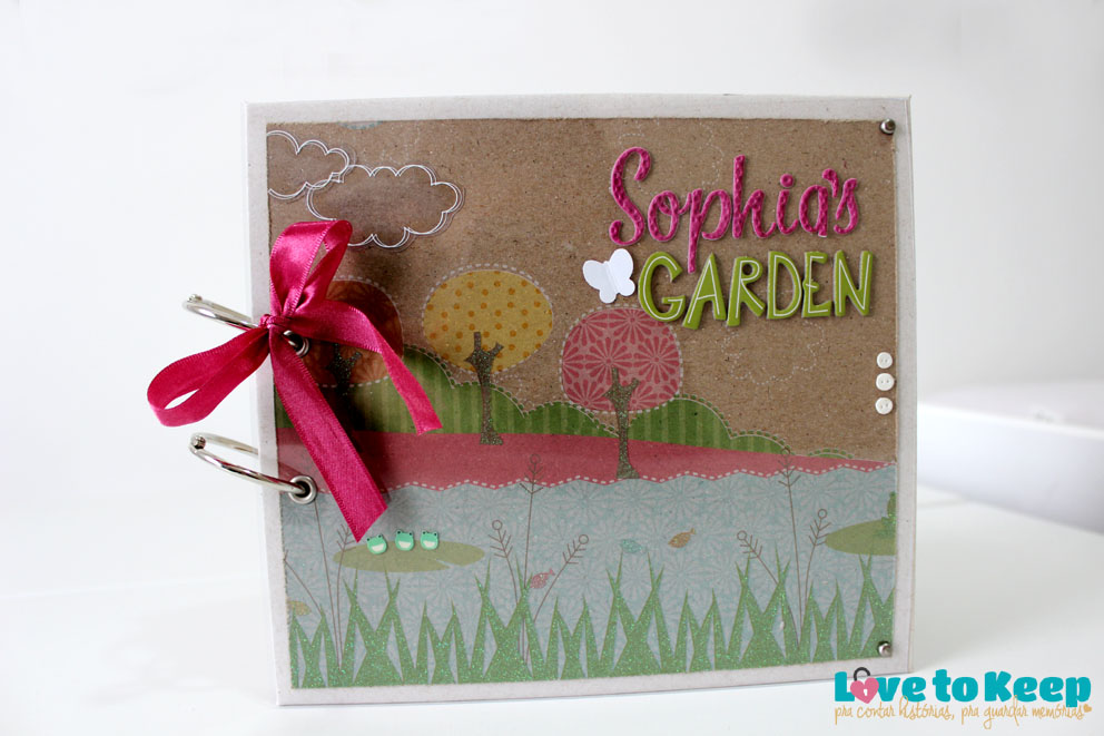 JuWruck_LovetoKeep_Scrapbook_Bebê_Baby_Girl_Mini Album Sophias Garden_1