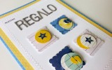Nuestro Regalo – Anúncio gravidez para vovô! – Cartão Artesanal