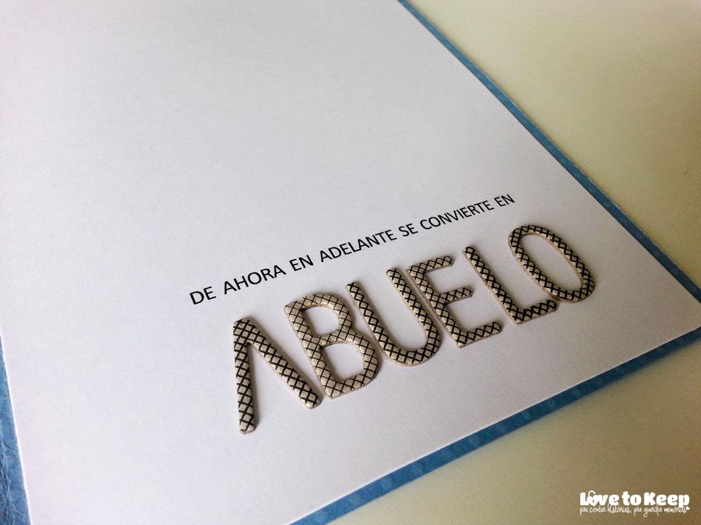 JuWruck_LovetoKeep_Scrapbook_Cartões_Card_Anúncio Gravidez_Pregnacy Annoucemnt_Avô em Espanhol_4