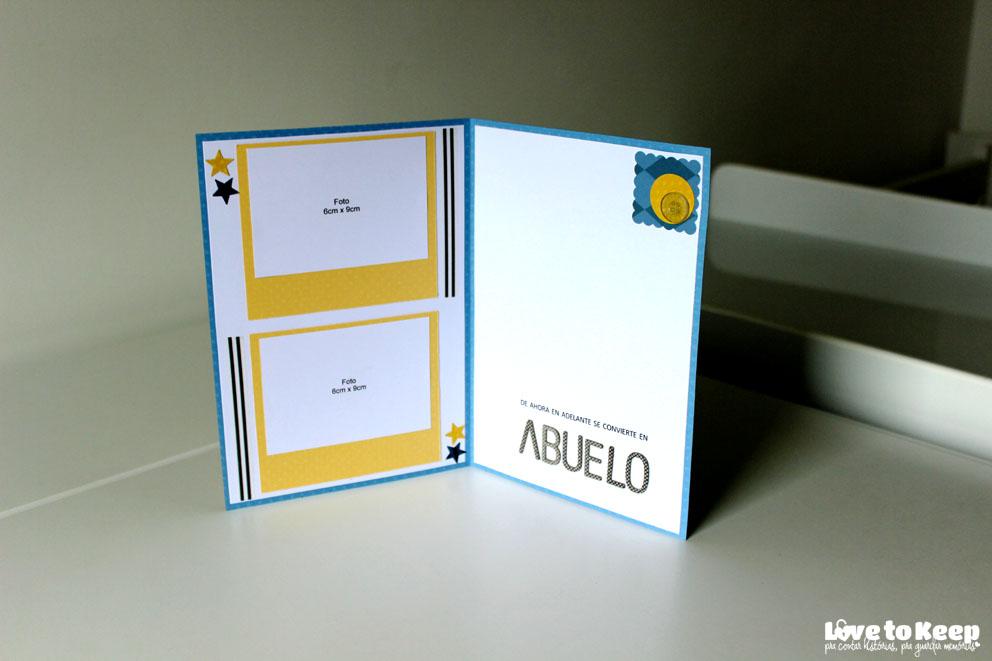 JuWruck_LovetoKeep_Scrapbook_Cartões_Card_Anúncio Gravidez_Pregnacy Annoucemnt_Avô em Espanhol_5