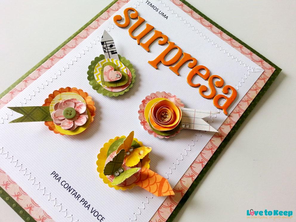 JuWruck_LovetoKeep_Scrapbook_Cartões_Card_Anúncio Gravidez_Pregnacy Annoucemnt_Bisavó_Verde_1