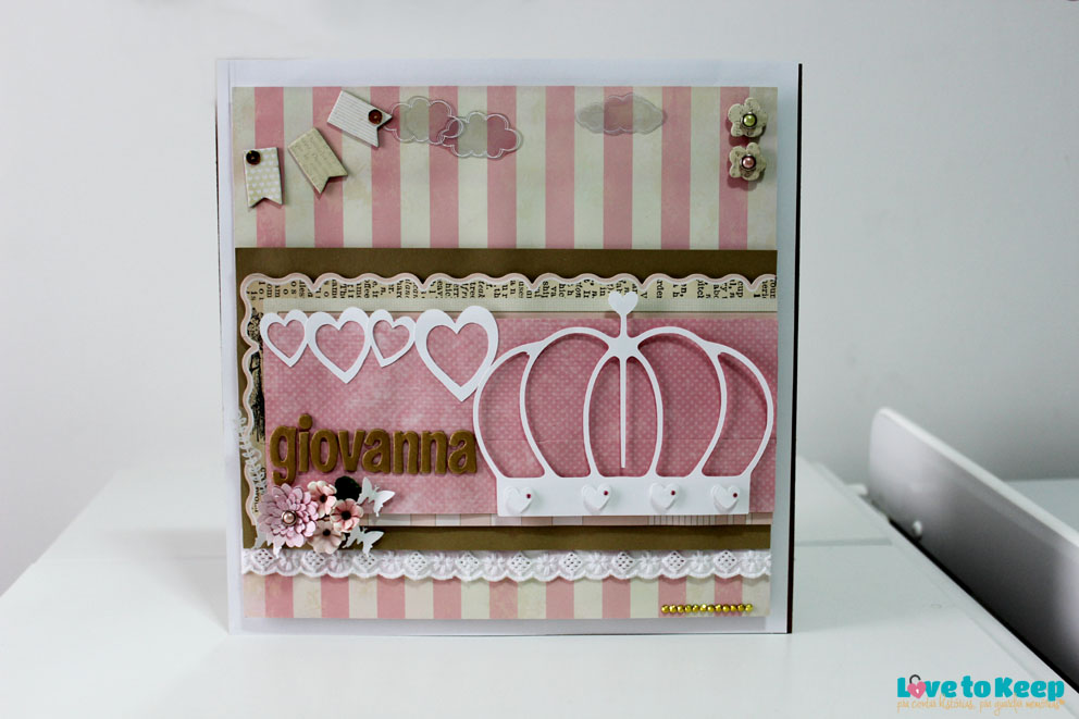 Love to Keep_Scrapbook_Quadro Porta Maternidade_Coroa_1