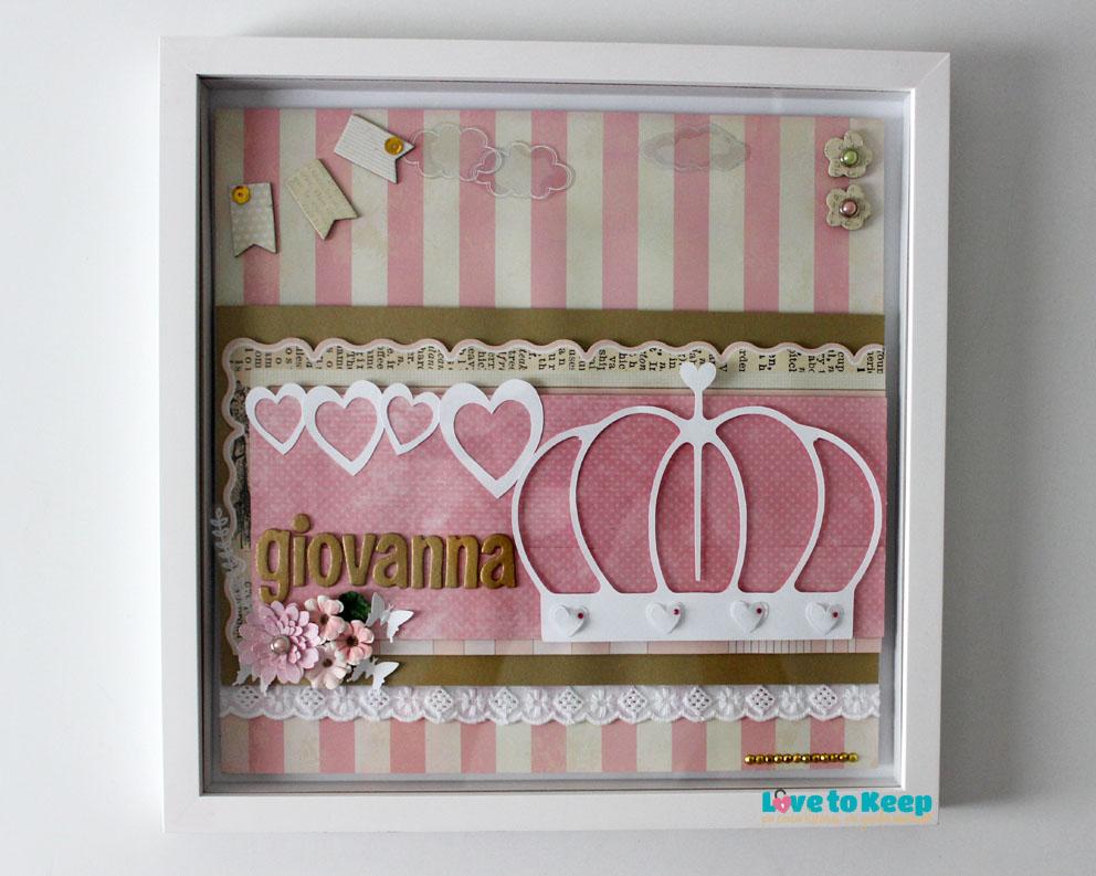 Love to Keep_Scrapbook_Quadro Porta Maternidade_Coroa_5