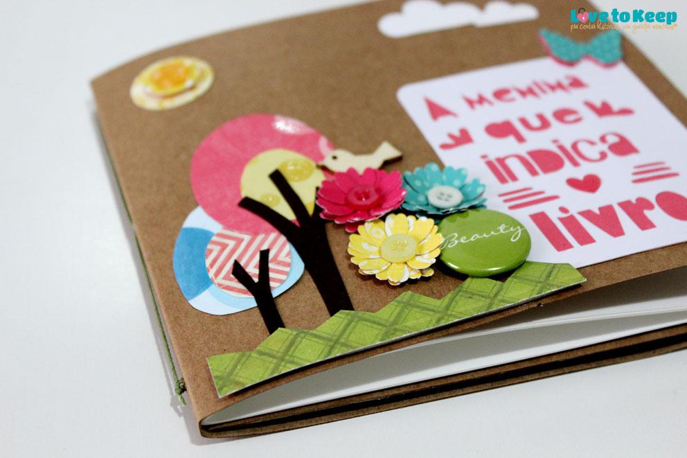 Love to Keep_Scrapbook_Mini álbum e porta Cd_A Menina que Indica Livros_2
