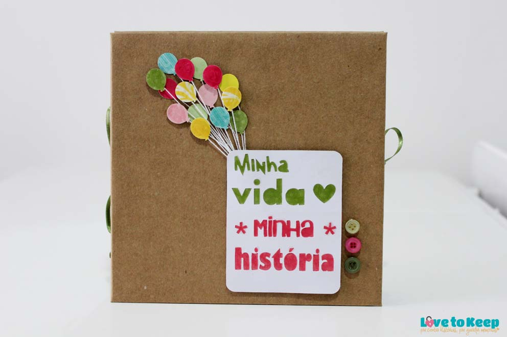 Love to Keep_Scrapbook_Mini álbum sanfo_A Menina que Indica Livros_Minha vida Minha História_1