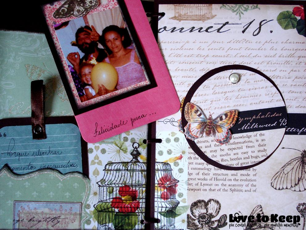 JuWruck_LovetoKeep_Scrapbook_Mini Álbum Amor de Mãe