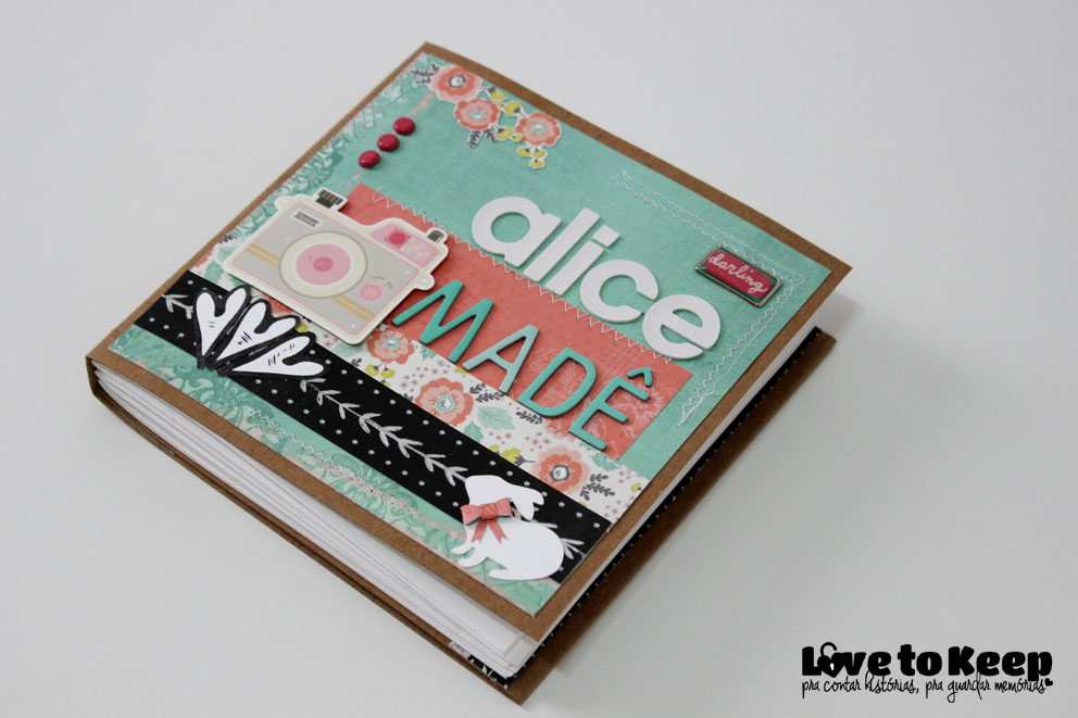 Love to Kee_Scrapbook_Mini Álbum Alice Madê_5